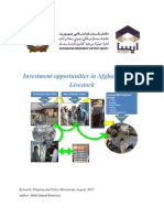 Investment Opportunities in Afghan Dairy Livestock