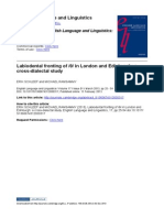 Labiodental Fronting of Th in London and Edinbugrh a Cross Ddialectal Study