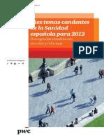 PWC Temas Candentes Sanidad 2012