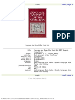 Language and Style of the Vedic Rsis SUNY Series in Hindu Studies