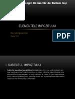 Elementele Impozitului Iulian