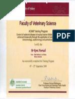 ACIAR Training Certificate From University of Sydney1