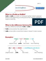 prefixes  suffixes - 2bac - unit 4 - vocab