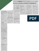 2013/11/11 - Copie intégrale de l'interview donnée le 09 novembre 2013 par Andry Nirina Rajoelina au journal Le Monde (Midi Madagasikara du 11 novembre 2013) - Andrianjo dit Zo Razanamasy/Me Rija Rakotomalala
