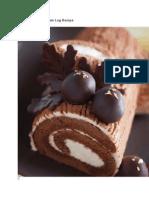 Boozy Chocolate Yule Log Recipe