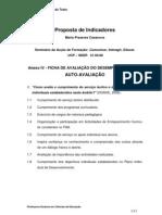 Proposta de Indicadores para preenchimento  da ficha de Auto-avaliação  - Anexo IV
