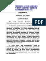 Ambrosius, Hexameron Libri Sex, LT