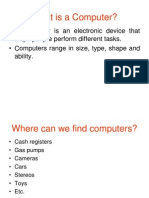 CS100 LEC 3 (1 Day) Hardware - Types of Computer