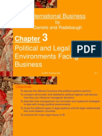 political & legal enviroment facing business