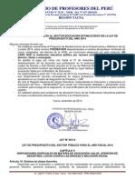 ARTÍCULOS REFERENTES AL SECTOR EDUCACIÓN ESTABLECIDOS EN LA LEY DE PRESUPUESTO DEL AÑO 2014
