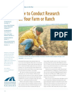How to Conduct Research on Your Farm or Ranch