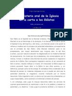 Bover, Jose Maria - Magisterio y Primado en Galatas