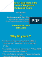 Contribution of Engineers 65 Years IEB