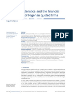01App_2012 Board Characteristics and the Financial Performance of Nigerian Quoted Firms