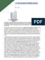 Incorporabile Premium_ Manual de Utilizare Whirlpool Awe7516