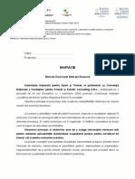 Invitatie Institutii Intalniri Consultative CNFT