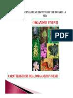 01.Caratteristiche Degli Organismi Viventi e Macromolecole Biologiche