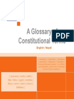 A Glossary of Nepalese Constitutional Terms