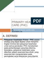 Primary Health Care (Phc2)