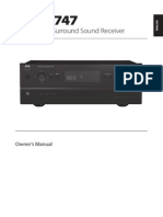 T 747 A_V Surround Sound Receiver - English Manual