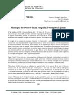 Comunicado de Prensa Recogido Gomas Orocovis 29 Oct 13