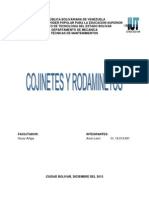 Cojinetes y Rodamientos Trabajo de Tecnicas de Mtto.