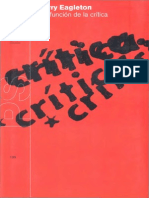 TERRY EAGLETON, La función de la crítica