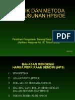 Tata Cara Penentuan HPS OE