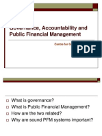 PFM, Governance and Financial Accountability