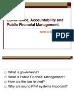 PFM, Governance and Financial Accountability