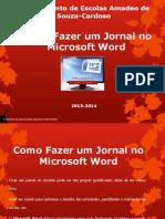 Jornal No Microsoft Word