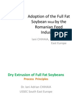 Dry Extrusion of Full Fat Soybeans Principles