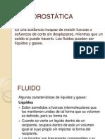 Hidrostatica e Hidrodinamica. CASTILLO