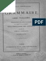 Sophianos Grammaire du grec vulgaire et traduction en grec vulgaire du traite de plutarque sur l education des enfants.pdf