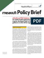 mHealth and FDA Guidance