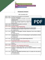 Program Conferinta de Microbiologie Si Epidemiologie 2013