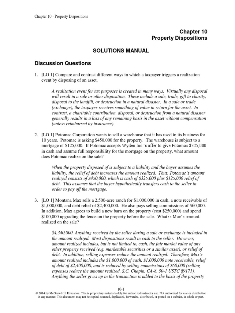 Chap 010 Taxation Individuals 14th | Depreciation | Capital Gains Tax In  The United States