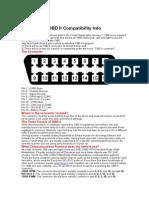 OBD II Compatibility Info