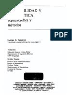 Canavos, G. Probabilidad y Estadística