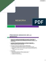 Procesos Basicos de La Memoria