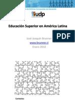 Brunner_VideoConf250110_baseEducación Superior en América Latina