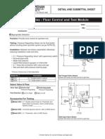 Floor controland test module Sprinkler system