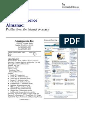 eCommerce Almanac, 2000 edition | E Commerce | Online