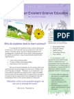 principles of  excellent science education