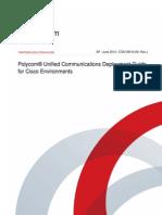 Polycom UC Cisco Deployment SP