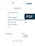 Choix d'Investissement en Contexte de Certitude
