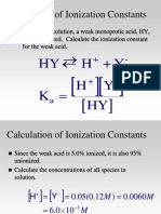 CH 17 3-15 Acid-Base Calculations