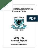 ECSCC Annual Report 2009