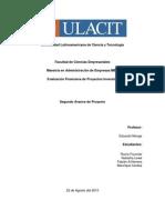 2do Avance Trabajo_Evaluación Financiera Proyectos
