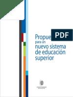 Propuestas Nuevo Sistema Educacion Superior CUECH
